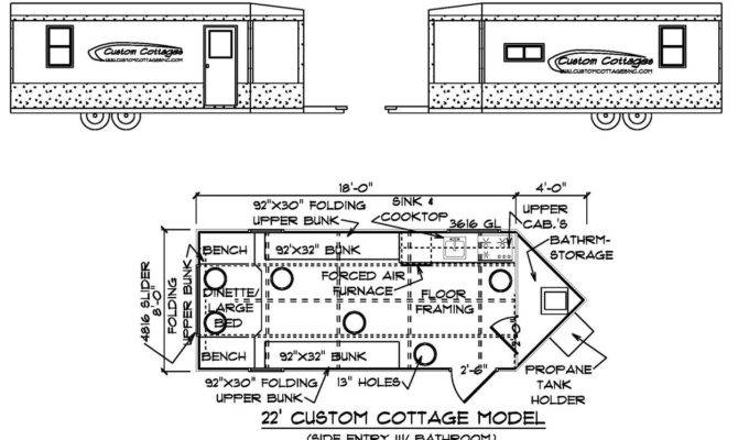 Ice Fishing House Blueprints Custom Cottages Inc Mobile Shelter
