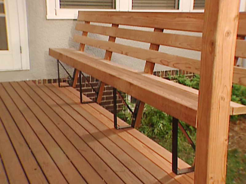 Ideas Awesome Deck Bench Plans Backs
