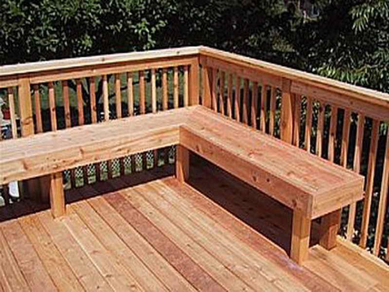 Ideas Deck Bench Plans Modern Designs