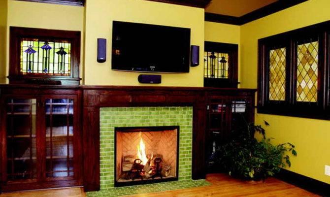 Ideas Fireplace Tile Wooden Floor