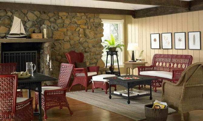 Ideas Lake House Decorating Red Chairs