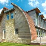 Ideas Modern Curves Prefabricated Wooden Roof Design House
