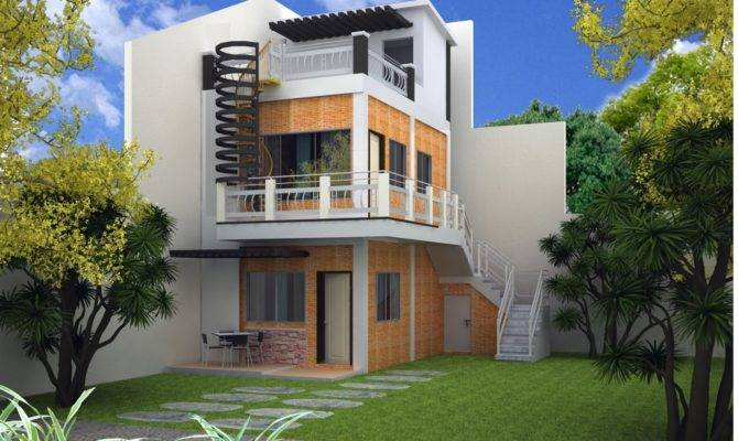 Imagined Storey Modern House Plans Plan