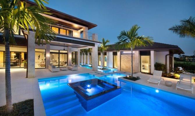 Impressive Luxury Fancy Houses Pools Imagas