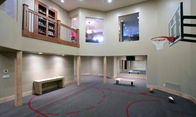 Indoor Home Basketball Courts Balcony