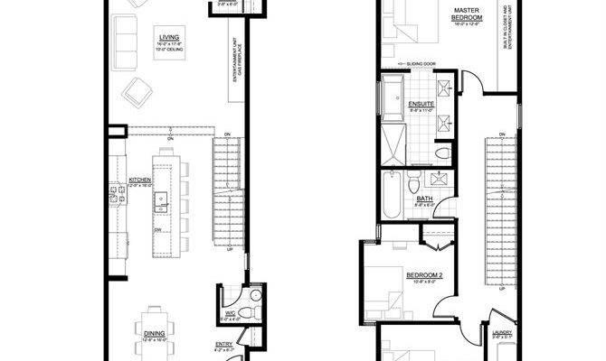 Infill House Design Edmonton Plans Pinterest