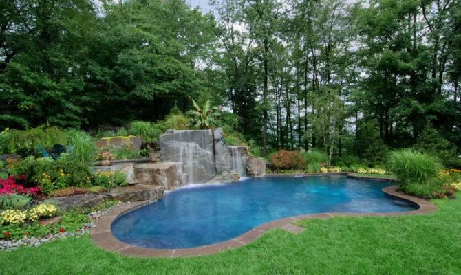 Inground Swimming Pool Landscaping Design Ideas