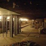 Inside Sub Basement Broken Sidewalk