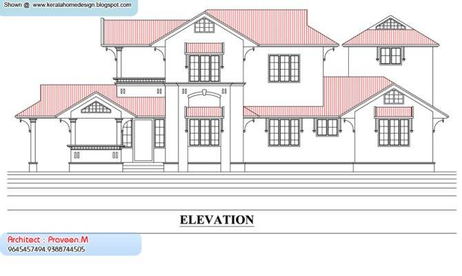 Inspiring House Plan Section Elevation Home