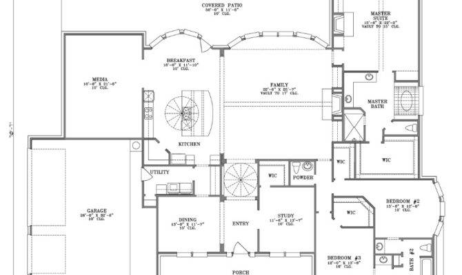 Inspiring Large One Story House Plans