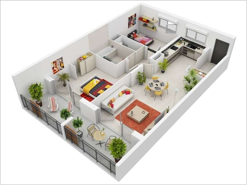 Interior Design Awesome Two Bedroom Apartment Floor Plans Home Plans Blueprints 20822