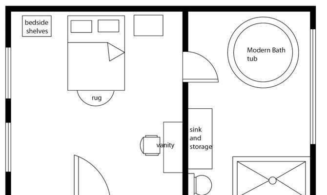 Interior Design Decor Modern Bedroom Basic Floor Plan
