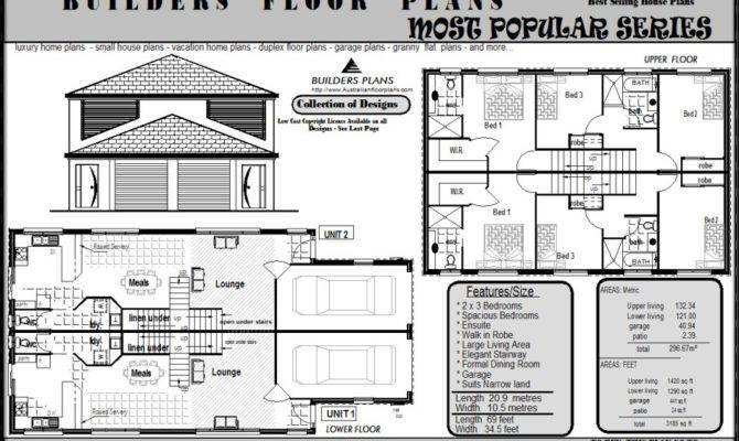 Investment Bedroom Townhouse Unit Builders Floor Plan
