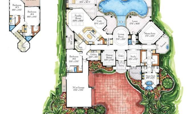 Italian Renaissance Style Florida Luxury Custom Home Floor