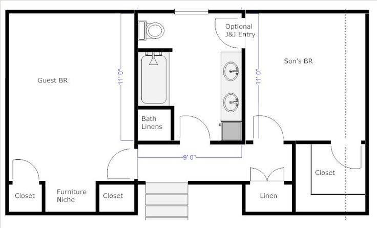 Dream Jack And Jill Bathroom Floor Plan 18 Photo - Home ...
