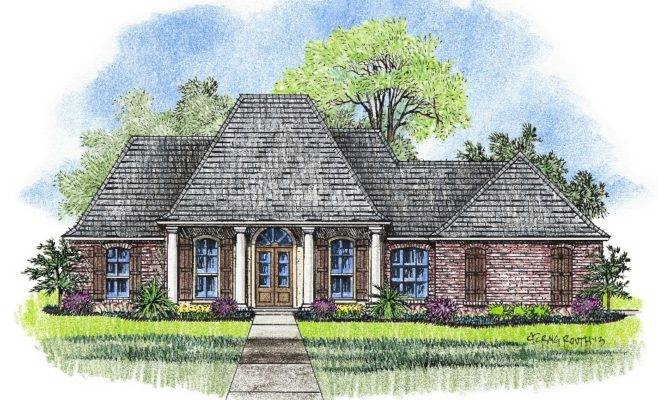 Karsyn Country French Home Plans Acadian House