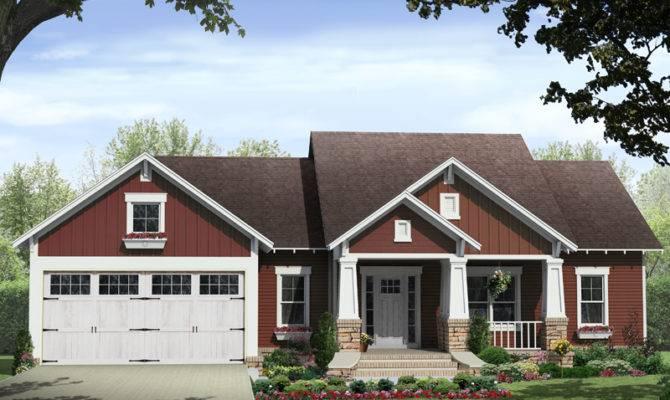 Kelly Leaf Craftsman Ranch Home Plan House Plans More