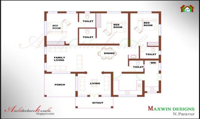 Kerala Bedroom House Plans Architecture Bhk Single Floor