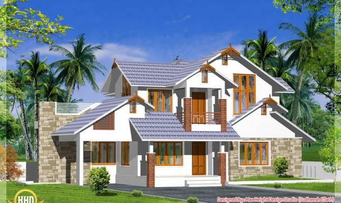 Kerala Style Dream Home Elevations Design