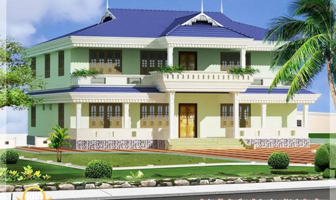 Kerala Style House Elevation Architecture