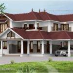 Kerala Style Sloping Roof Home Exterior Indian House Plans
