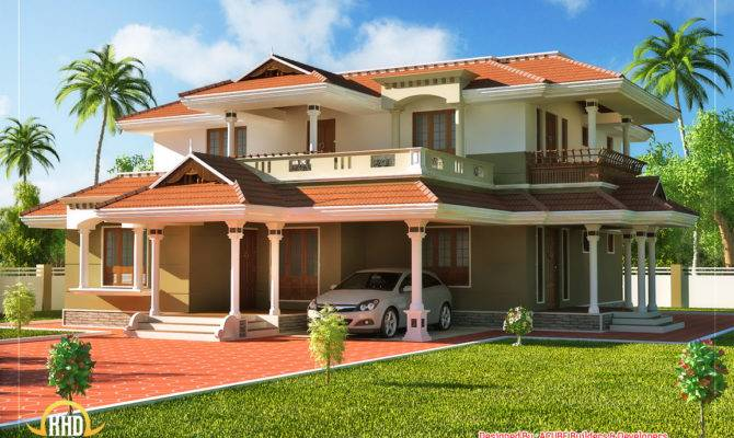 Kerala Style Story House Indian Plans