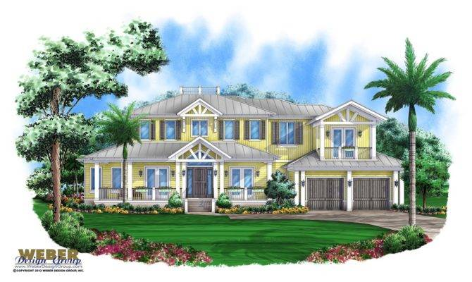 Key West House Plans Island Style Home Floor