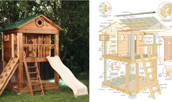 Kids Playhouse Plans Woodwork City Woodworking