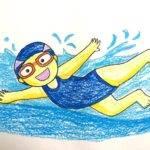 Kids Swimming Drawing Getdrawings
