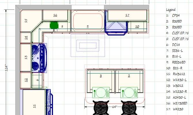 Kitchen Blueprints Floor Plan