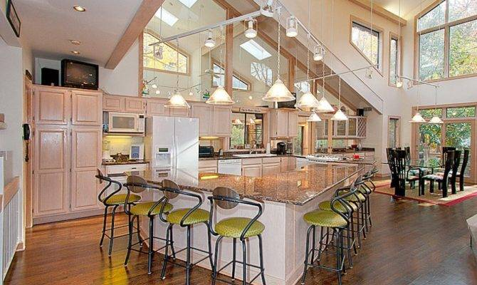 Kitchen Designs Awesome Open Floor Plans Bar Stools