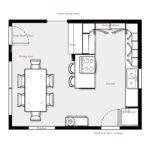 Kitchen Floor Plans Island Design Ideas