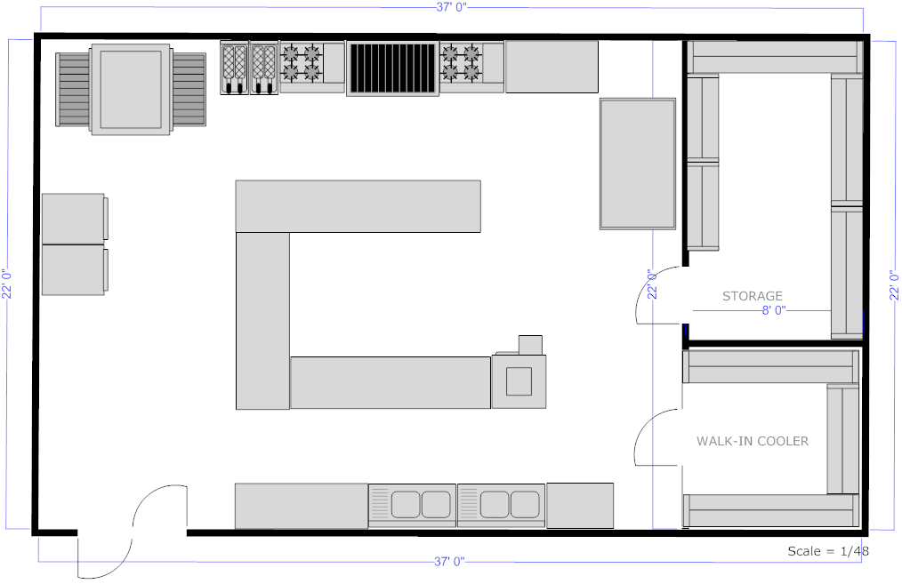 Kitchen Planning Software Easily Plan Home Plans Blueprints 3059