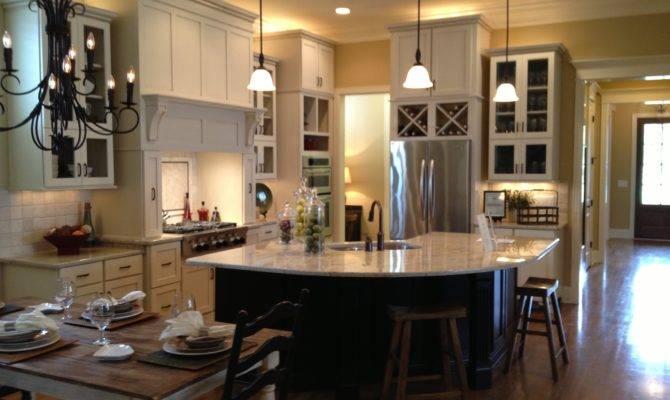Kitchen Wooden Open Floor Plans Design Combined