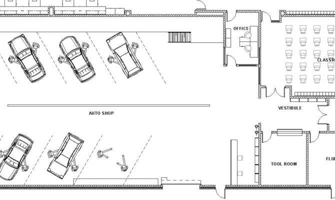 Lake Central High School Room Concepts Vocational Auto Shop