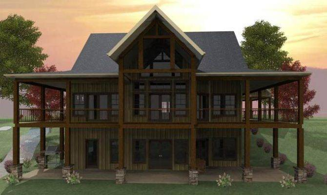 Lake House Basement Lakefront Home Plans Walkout