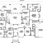 Large Custom Home Plans Unique One Story Five Bedroom