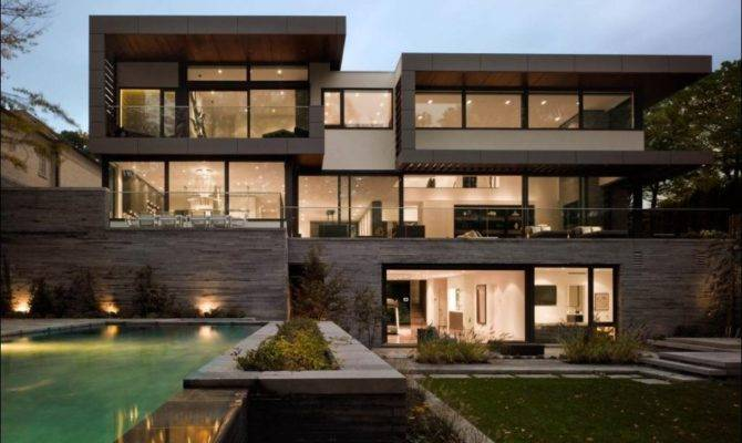 Large Home Modern Architecture Designs Applying Glass