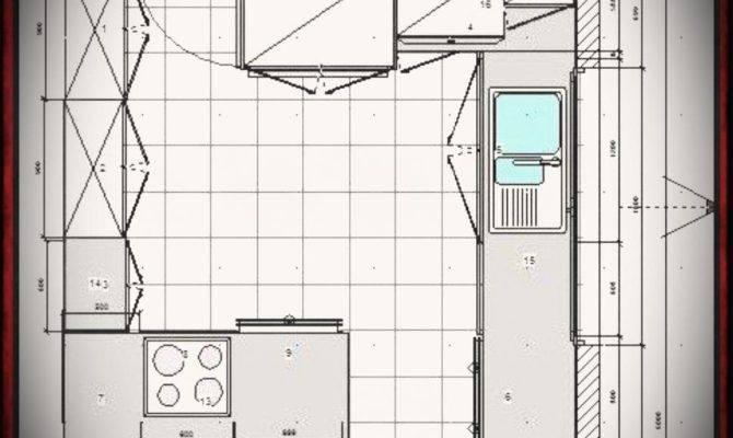 Large Kitchen Floor Plans Peninsula Small