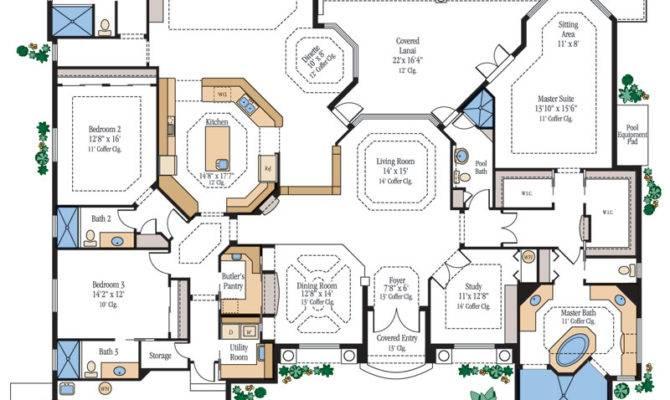 Large Luxury Home Floor Plans Homes