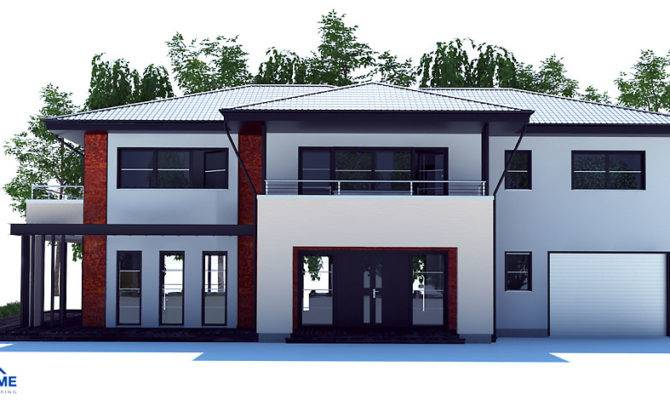 Large Modern House Plan Four Bedrooms