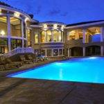 Large Swimming Pool Design Applied Front Area Mansion Pools