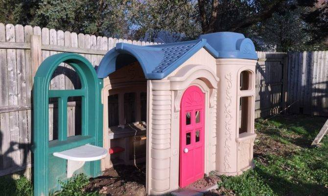 Large Victorian Little Tikes Playhouse Ebay