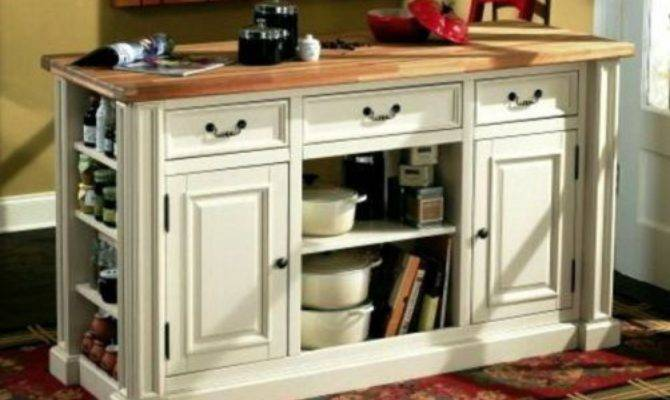 Large White Portable Kitchen Pantry Cabinets Long