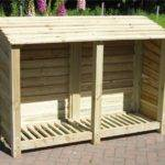 Large Wide Wood Log Store Storage