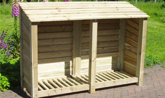 Large Wide Wood Log Store Storage