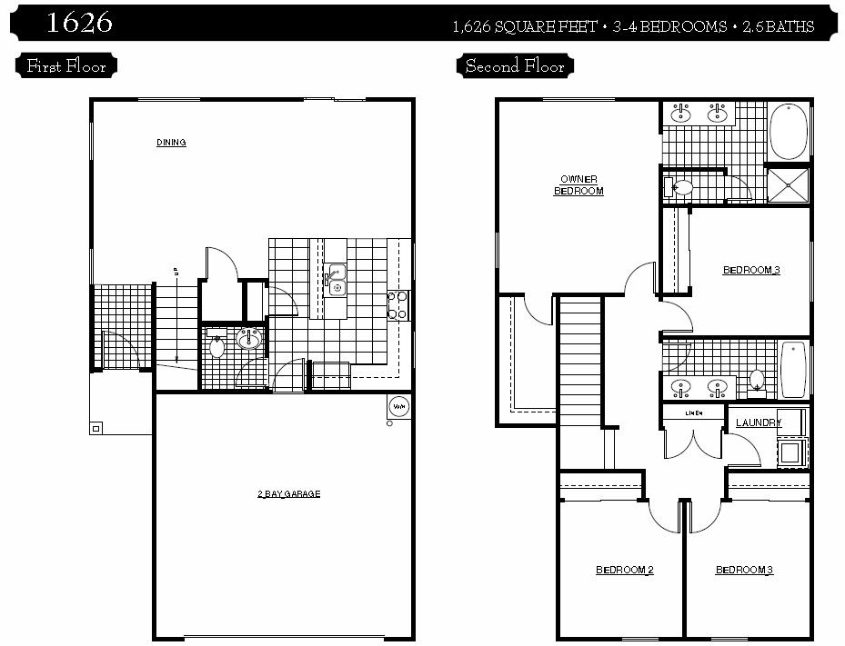 Dream 2 Story 4 Bedroom 3 Bath House Plans 20 Photo - Home ...