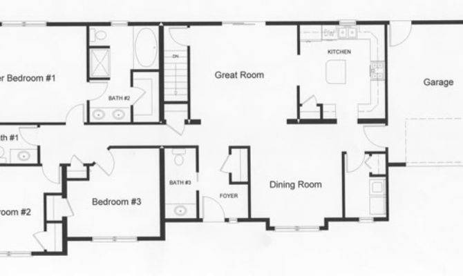 Left Side Home Provide Privacy Open Floor Plan Design