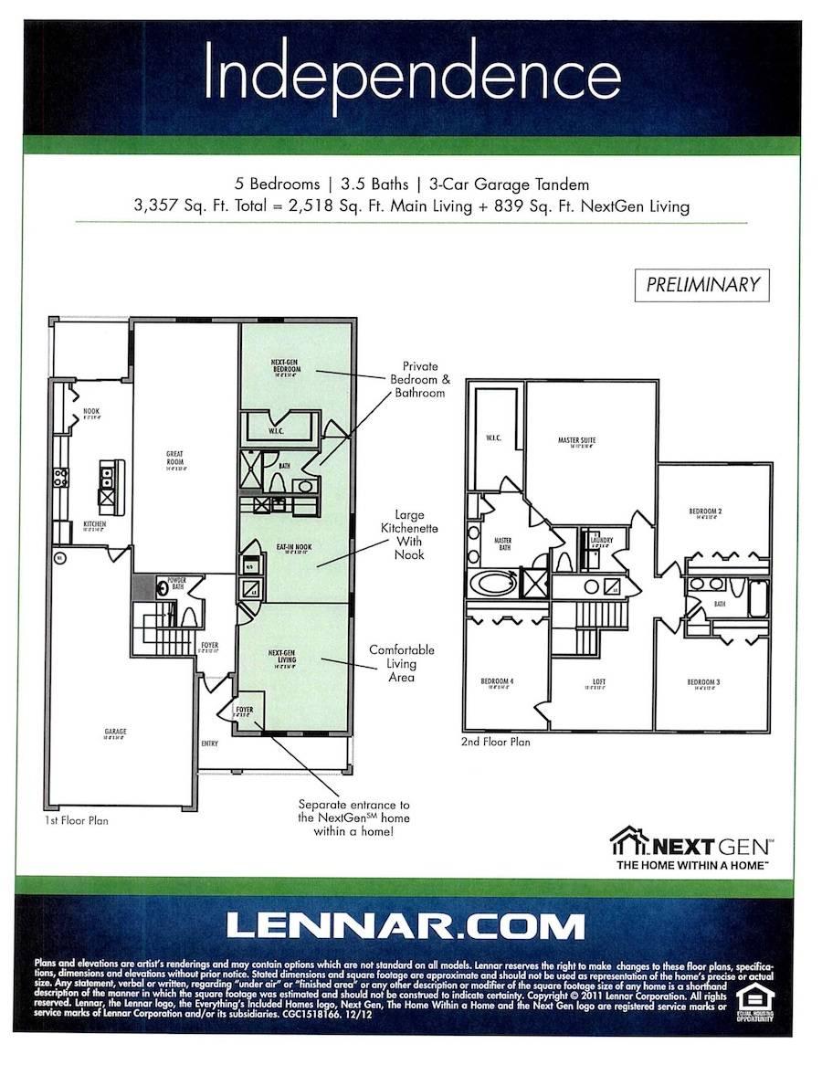 Lennar Opens Unique Next Gen Model Home Concord Station Home Plans Blueprints 169962