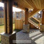 Level Cedar Deck Walkout Basement Pergola